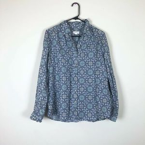 Charter Club Linen L Shirt Button Up Long Sleeve